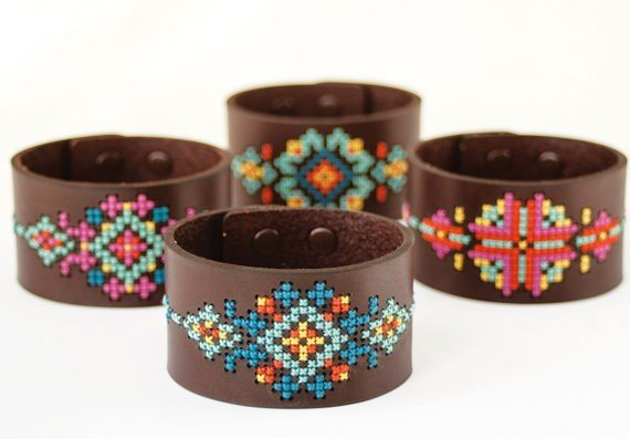 Red Gate Wide Leather Cuff Kit - Brown