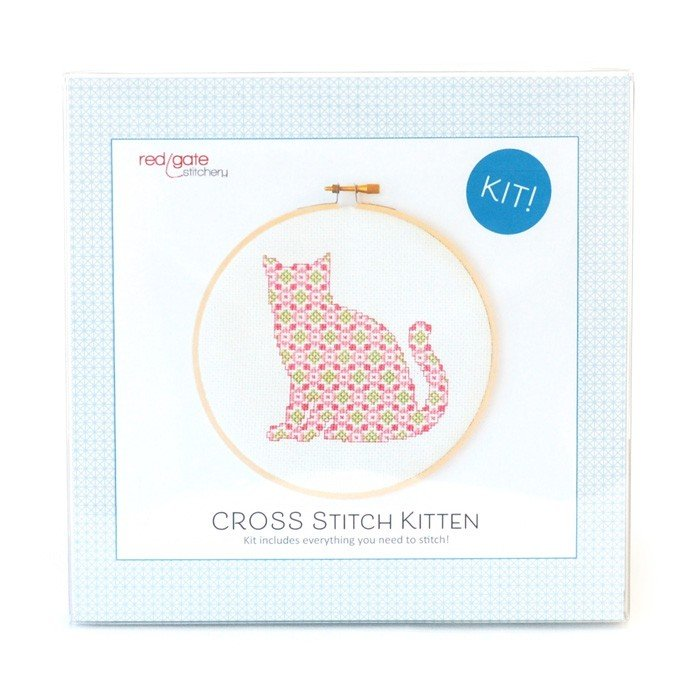 Red Gate Counted Cross Stitch Kit - Kitten