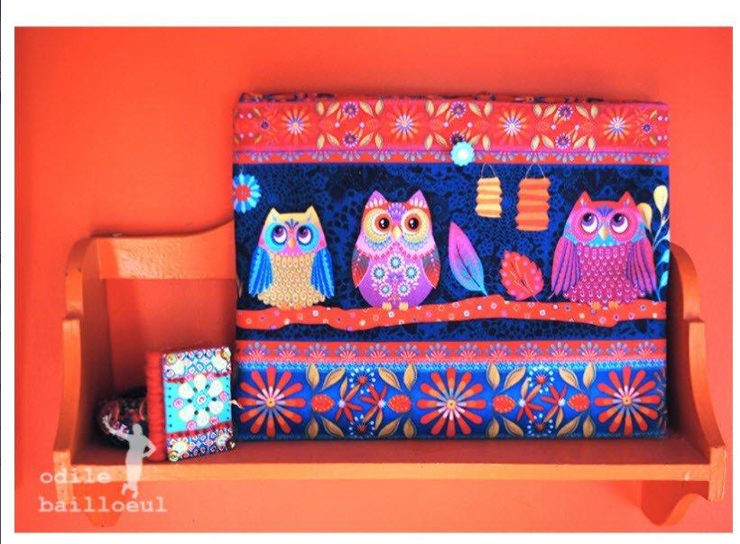 Odile Bailloeul Velvet Kit Tablet Case Owls