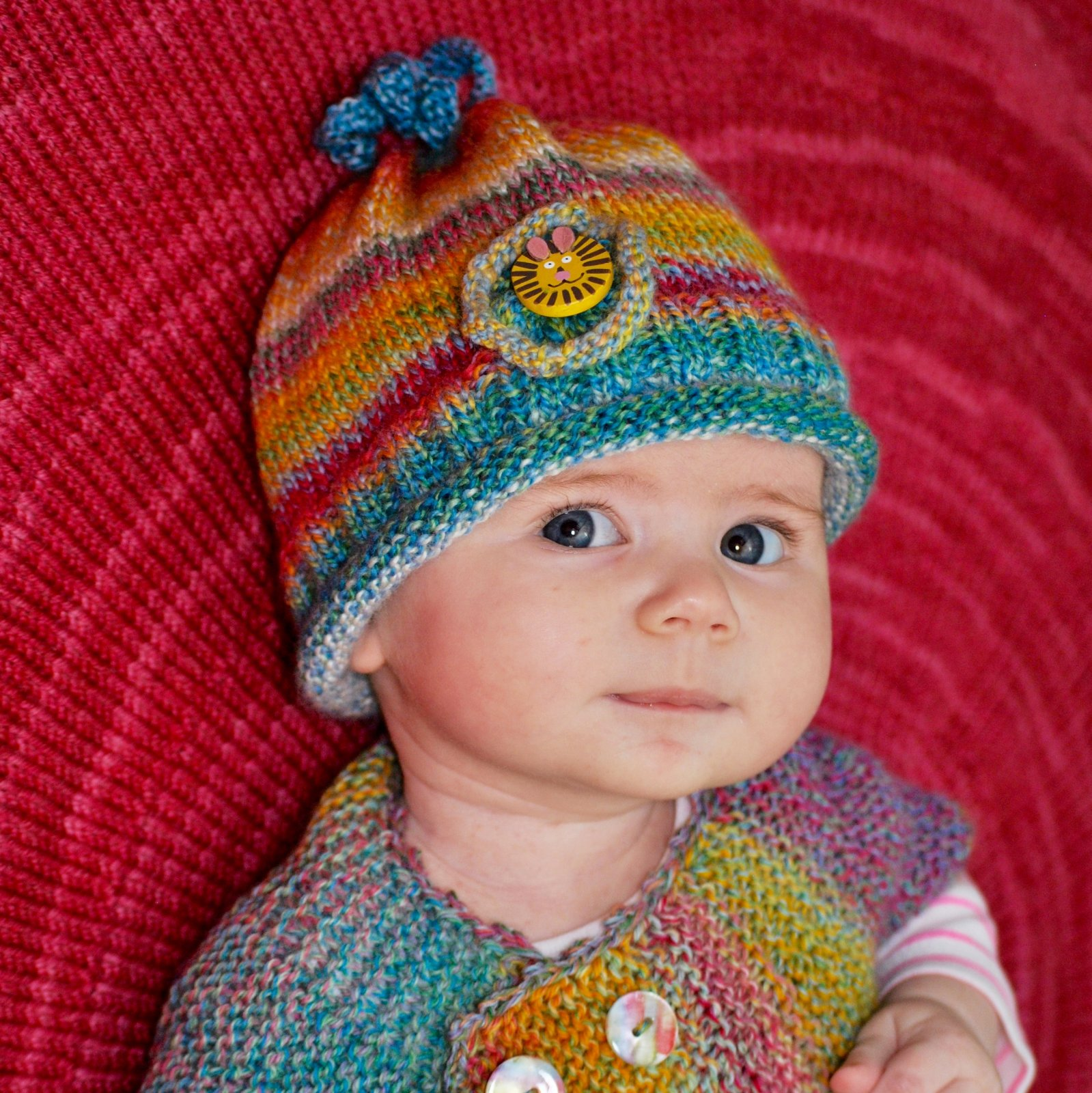 Corkscrew Baby Hat - .pdf download