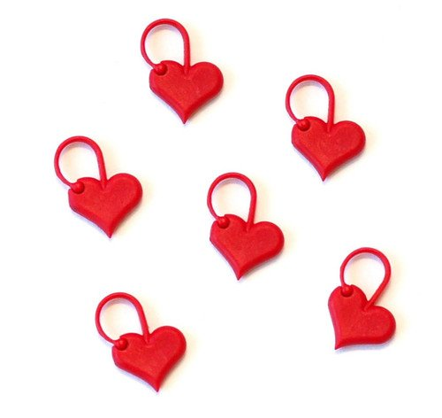 addiLove Heart Stitch Markers (6 pack)