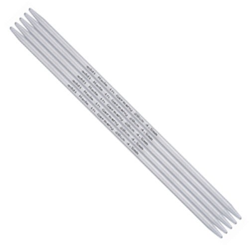 addi Aluminum Double Point Knitting Needles - 4 6 8 and 16 lengths