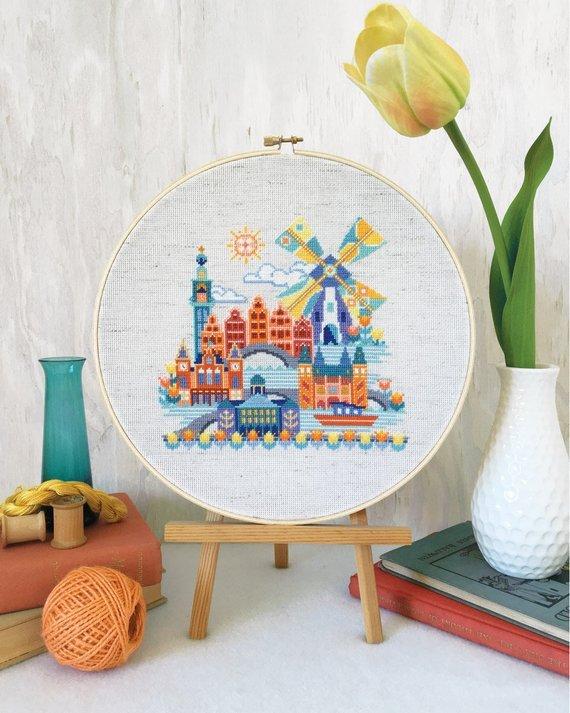 Satsuma Street Cross Stitch Pattern - Pretty Little Amsterdam