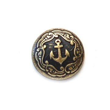 Anchor Brass Metal Button