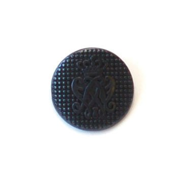 Arched With Crown; Black Metal Button