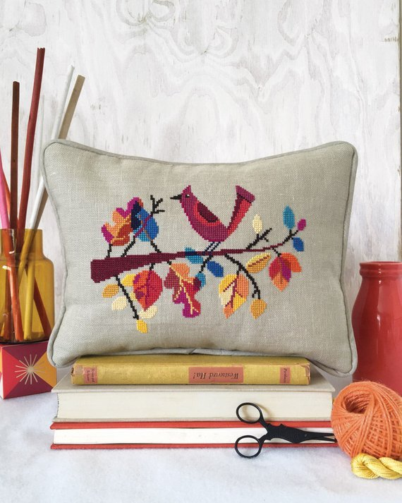 Satsuma Street Cross Stitch Pattern - Autumn Bird
