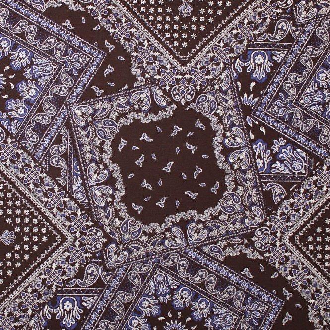 Bandana Print - Kokka 100% Cotton Fabric Navy - Seven Islands