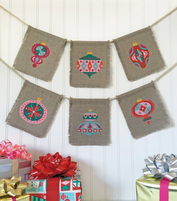 Satsuma Street Cross Stitch Pattern - Christmas Baubles