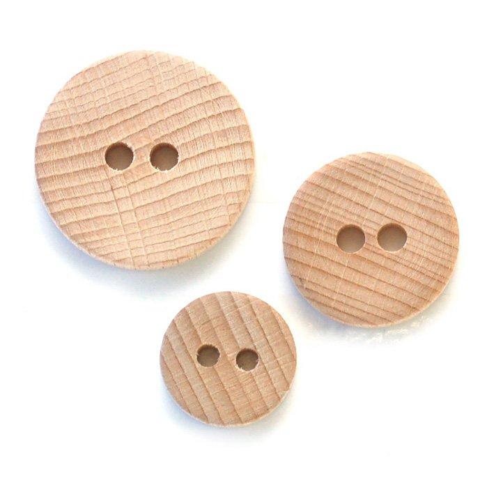 Beech Wood Button