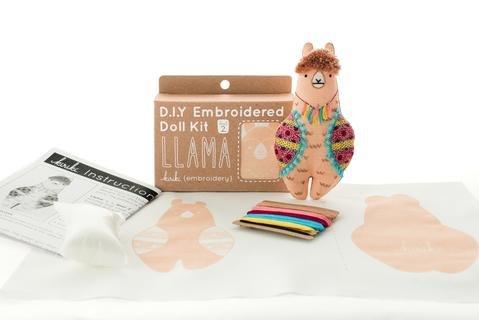 DIY Embroidery Kit Llama