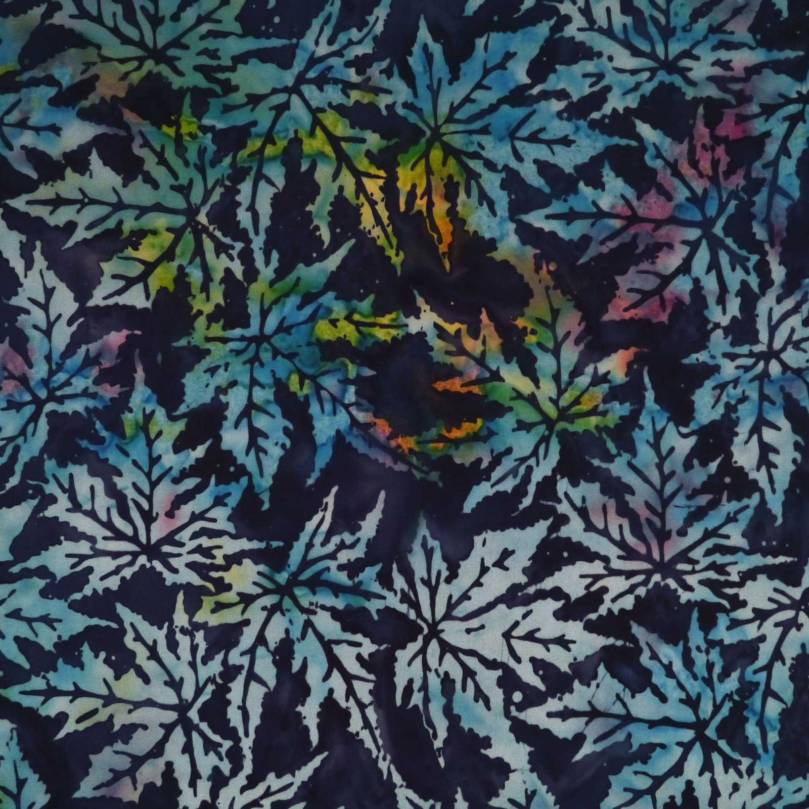 Blues - Botanica Magica -  Batik by Mirah
