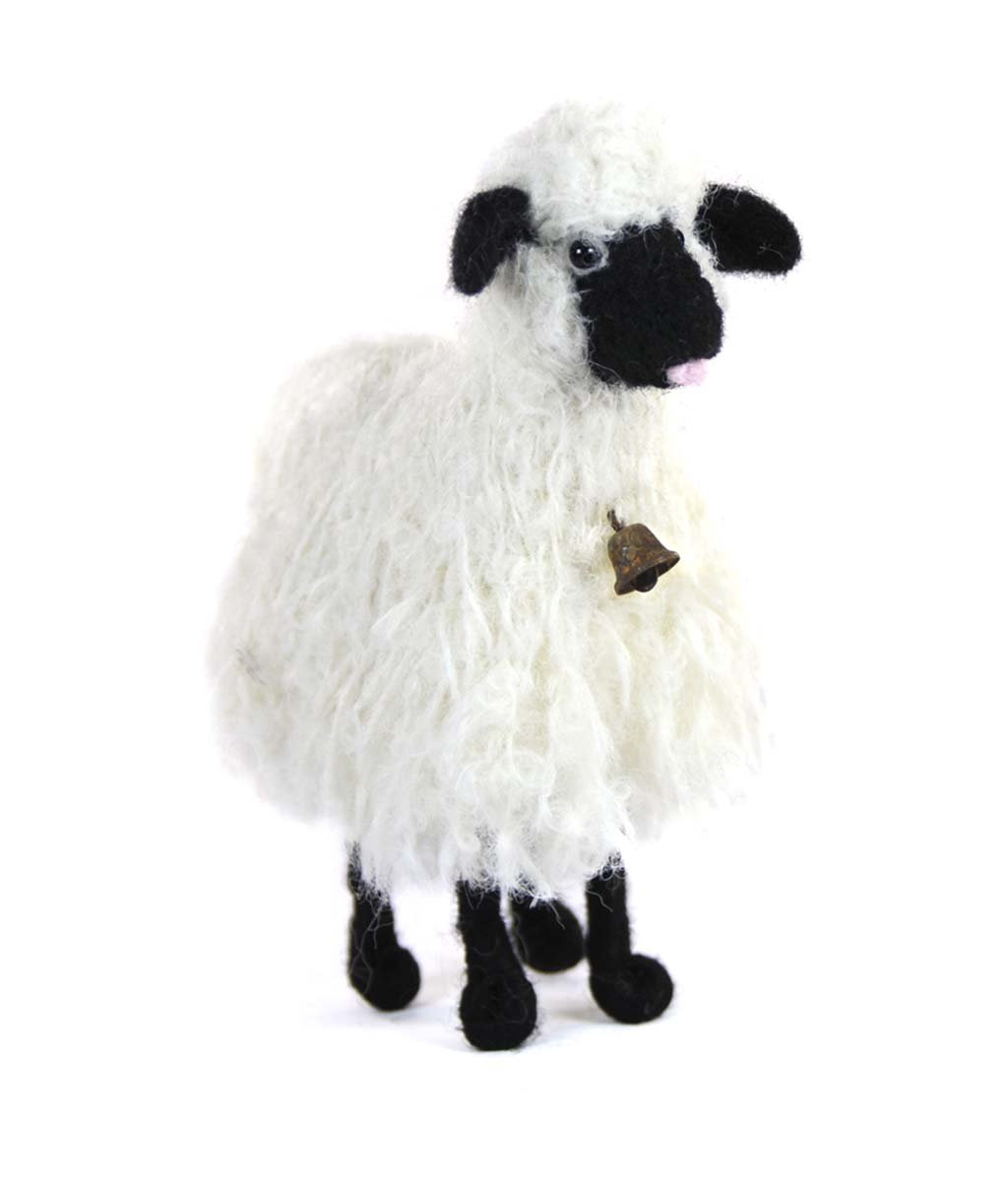 Boucle Bell Sheep Felted Sculpture
