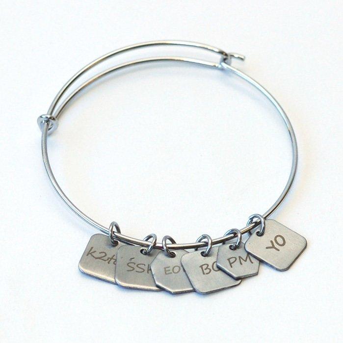 Bracelet w/6 Charms