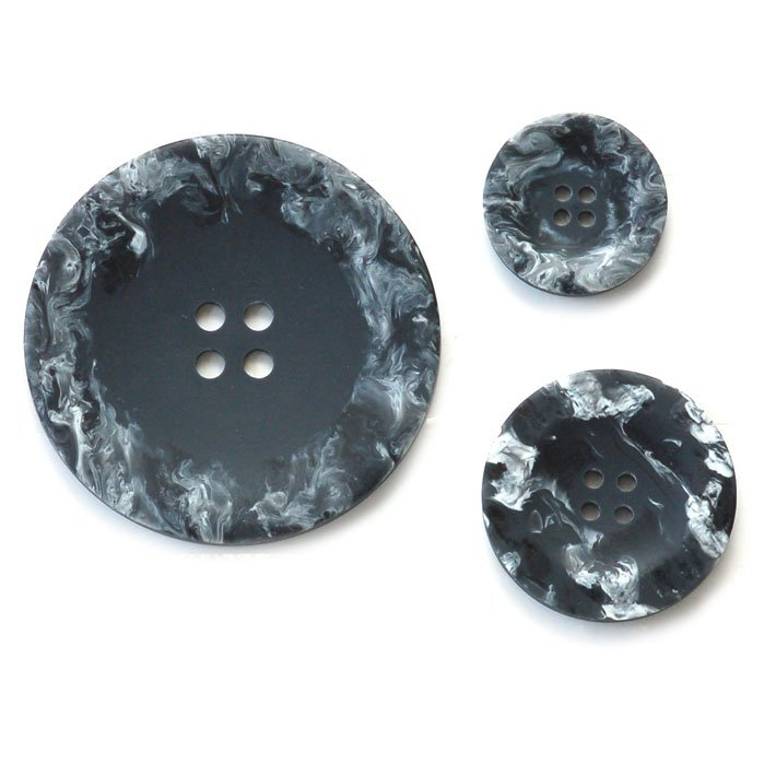 Brushed Edges Plastic Buttons