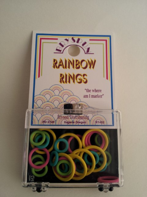 Bryspun Ring Stitch Markers - Rainbow