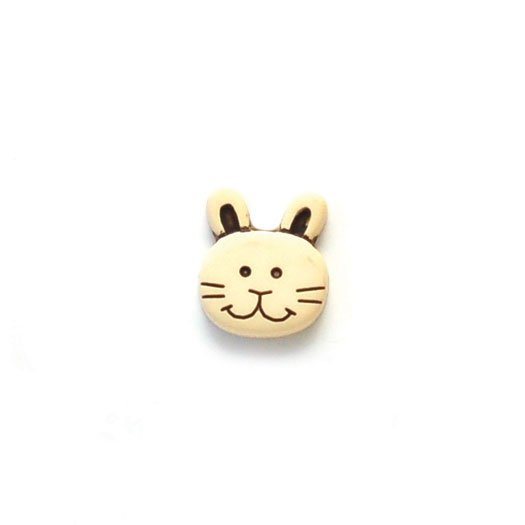 Bunny Rabbit Face Plastic Buttons