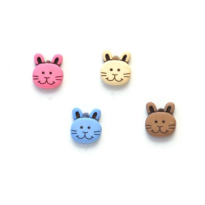 Bunny Rabbit Face Plastic Buttons