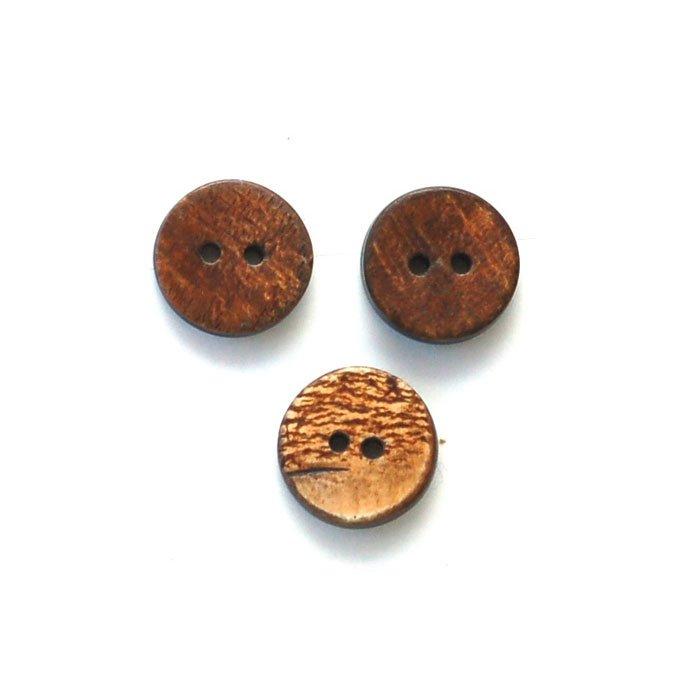 Burnt Rough Horn Button