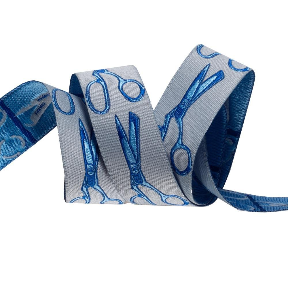 Cut Once in Noon Blue - Renaissance Ribbons