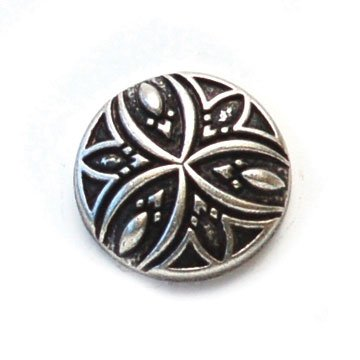 Carved Design Metal Button