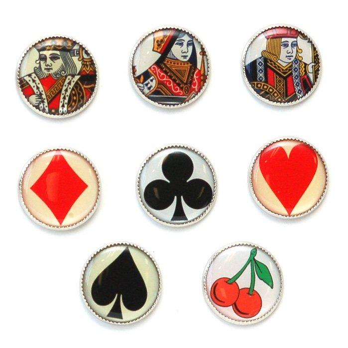 Casino Picture Button Set