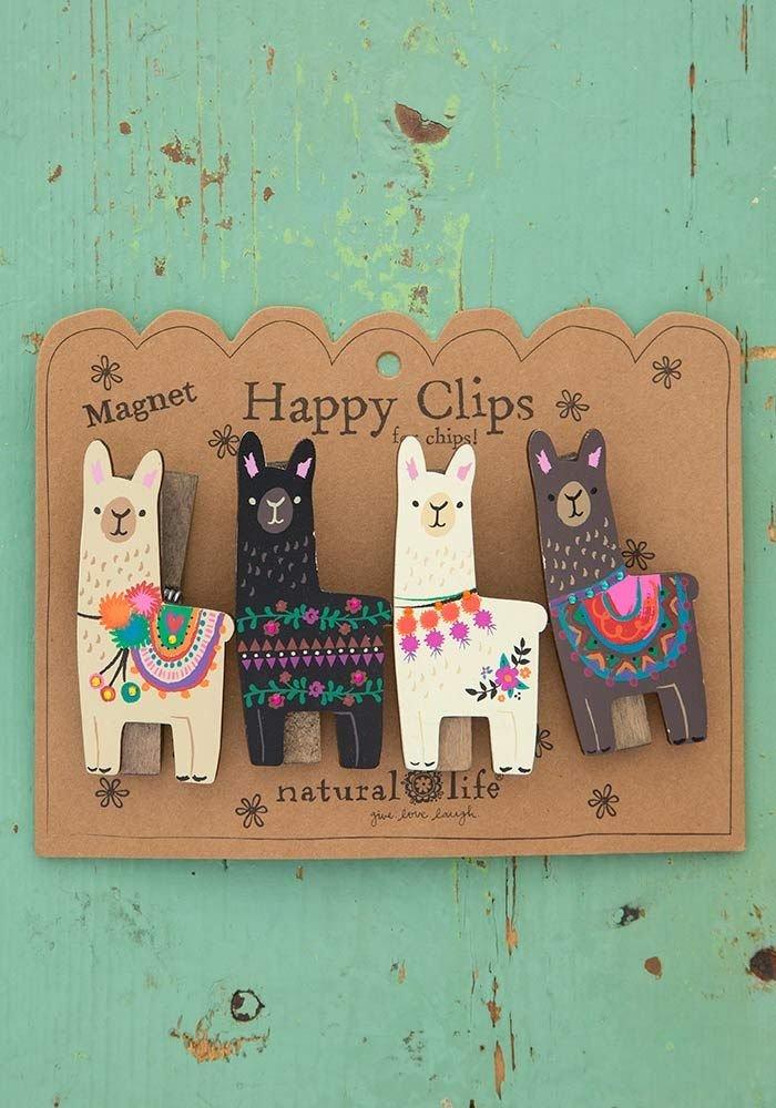 Llama Magnet Happy Clips