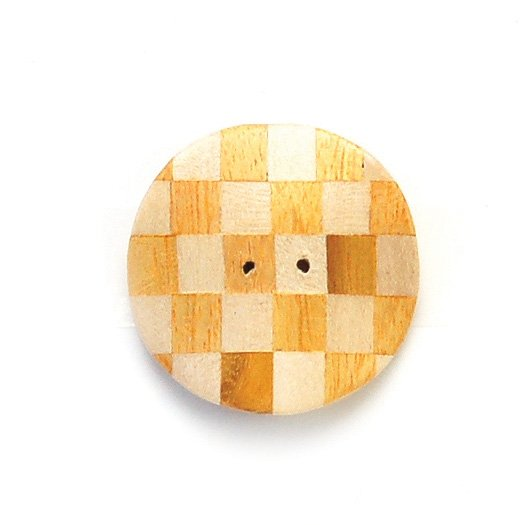 Checkered Inlay Wood Button