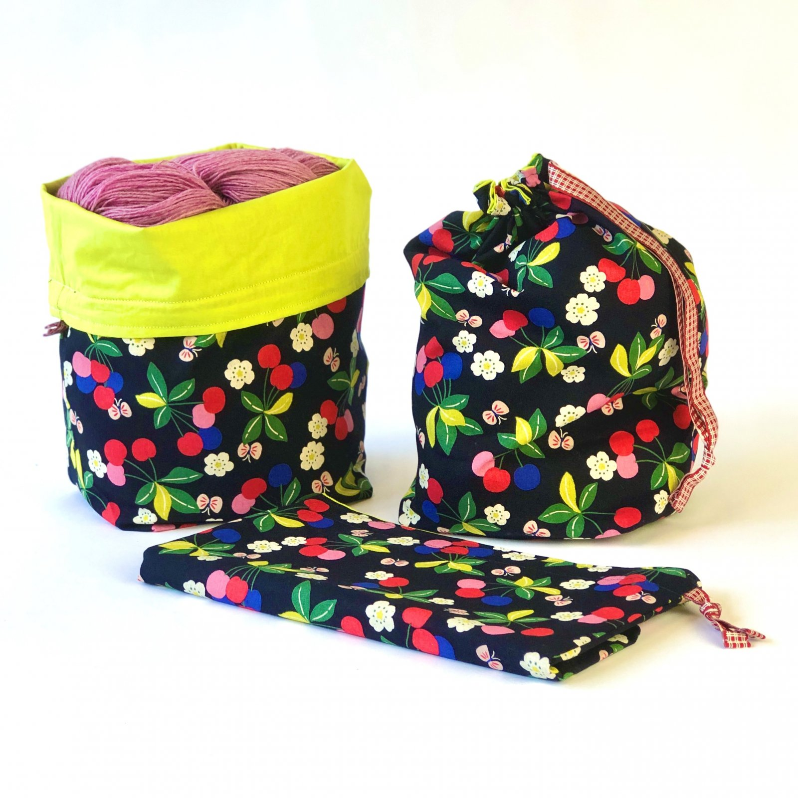 Cheery Cherries - Makers' Exclusive Project Bag