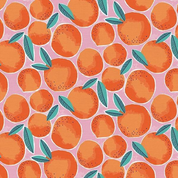 Citron Oranges on Pink - Paintbrush Studios