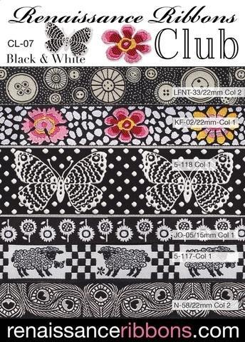 Renaissance Ribbon Pack - Black & White Ribbon Pack - CL-07