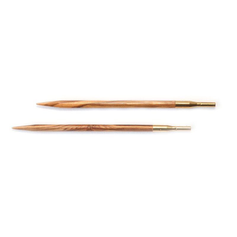 addiClick Olive Wood Interchangeable Tips (Pair)