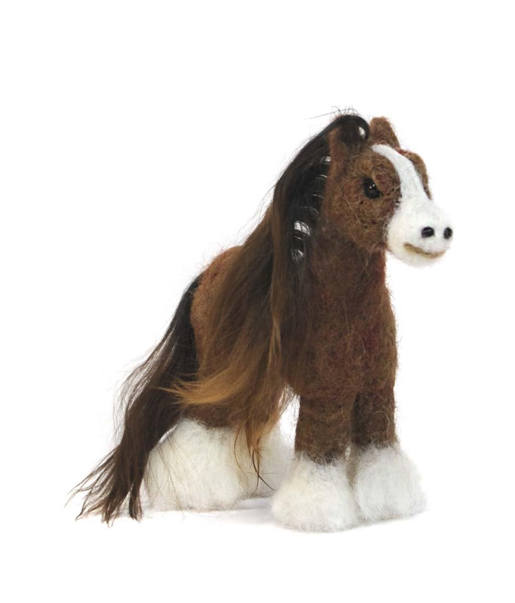 Clydesdale Horse -  Alpaca felted sculpture