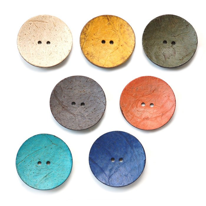 Textured Coconut Buttons