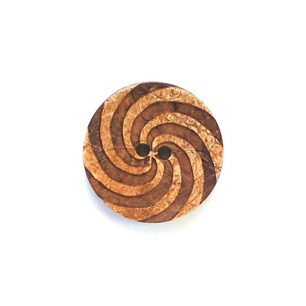 Engraved Spiral Coconut Buttons