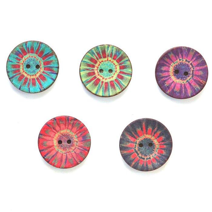 Tye Dye Coconut Buttons