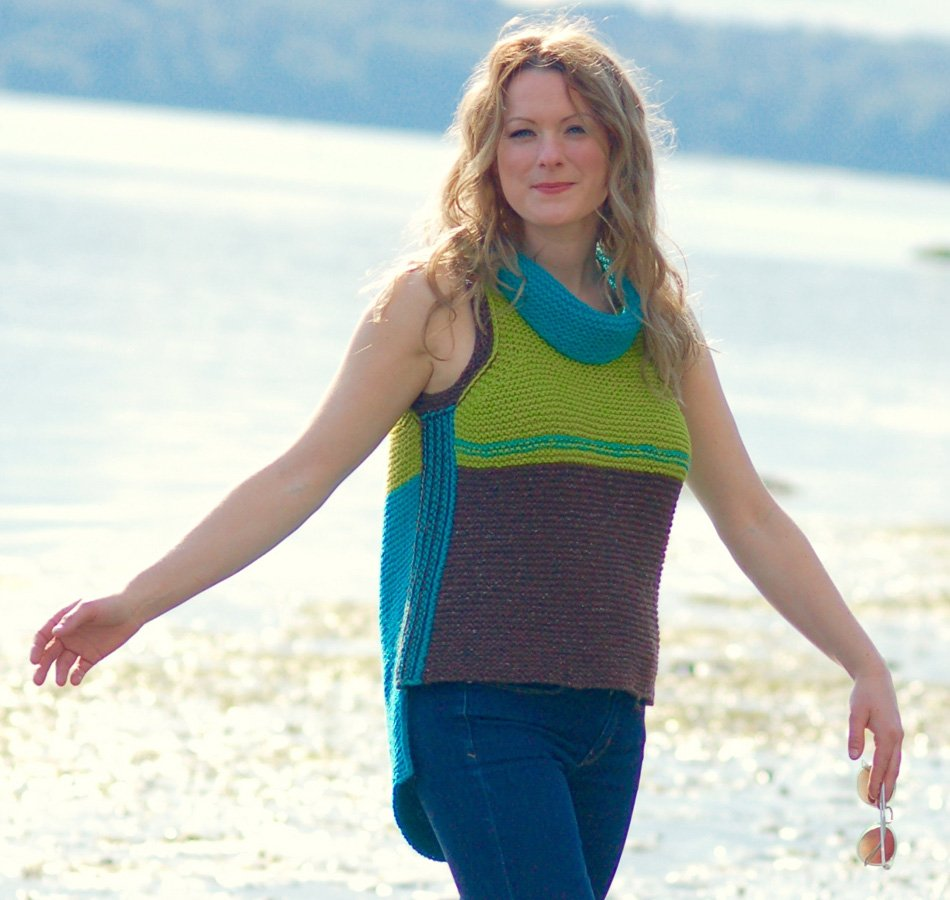 Colorblock Top and Vest - free .pdf pattern download