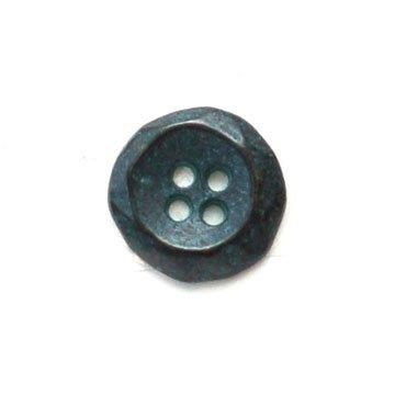 Concave Copper Patina Metal Button