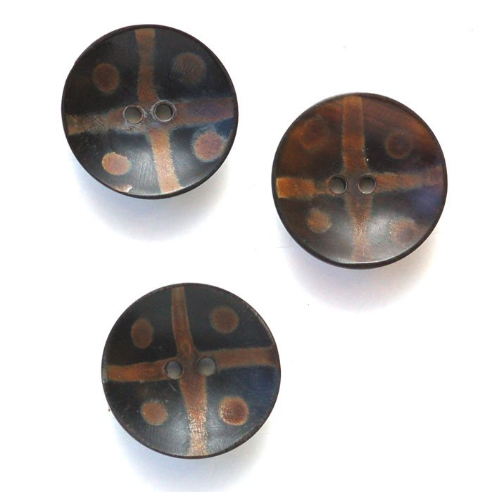 Dots & Cross Cup Horn Button