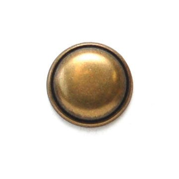 Convex Round Brass Metal Button
