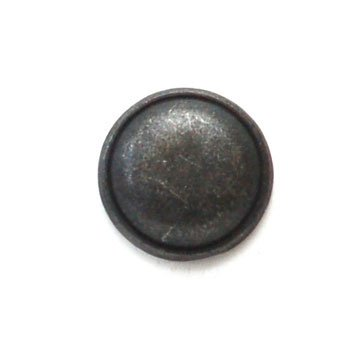 Convex Round Silver Metal Button