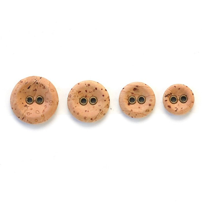 Cork Slightly Concave Wood Button