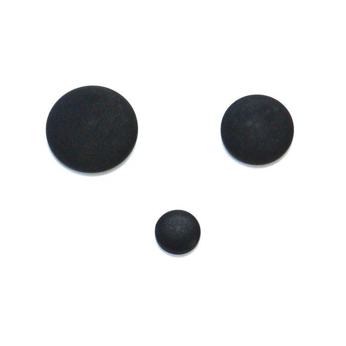 Black Dome Velvet Corozo Buttons