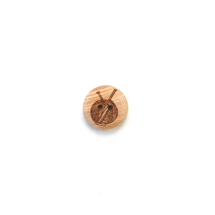 Craft Supplies Wood Button