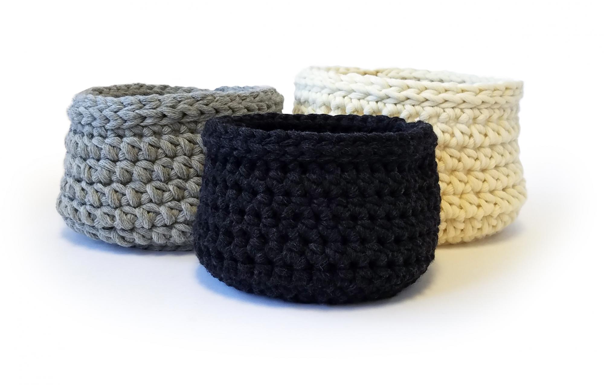 Nested Baskets crochet pattern .pdf download