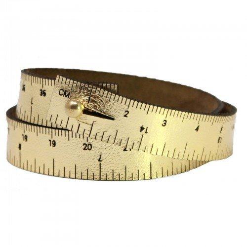 16 Wrist Ruler - Gold Metallic