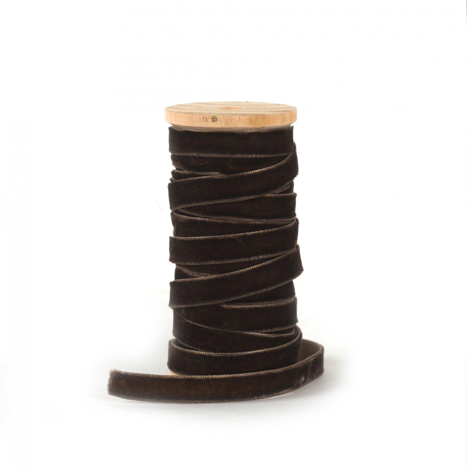 Velvet Ribbon Brown 3/8 inch