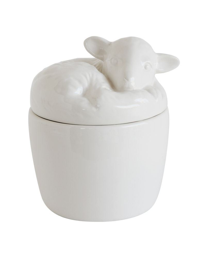 Ceramic Lamb Box