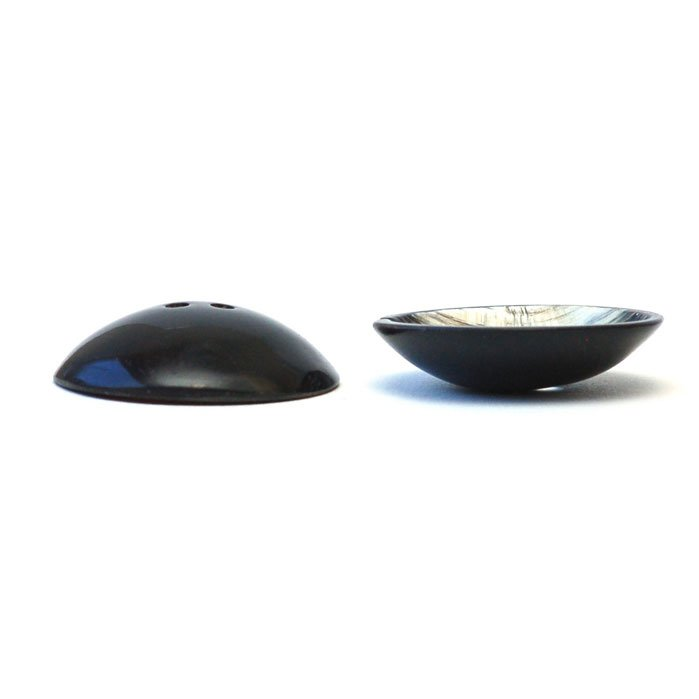 Brushed Concave Cup Horn Button
