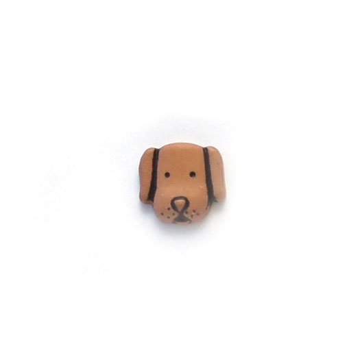 Dog Face Plastic Buttons