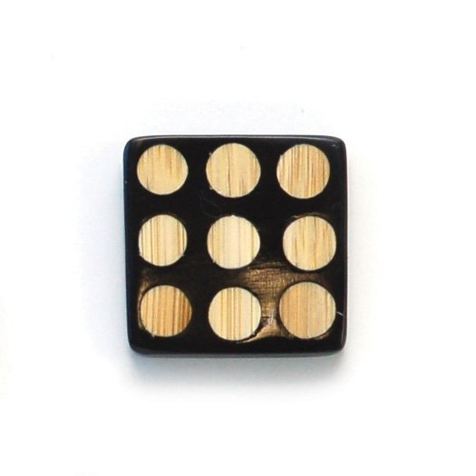 Domino Square Wood Button